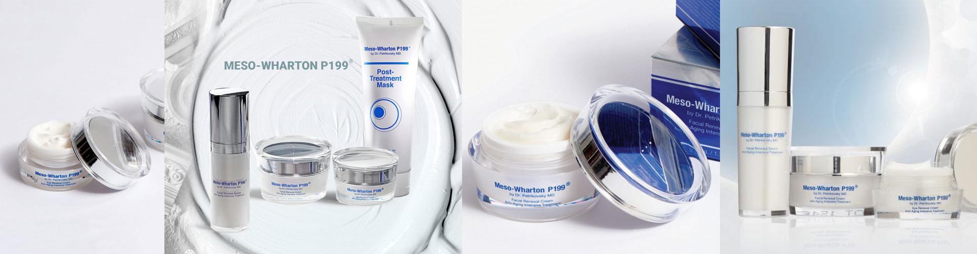 Meso-Wharton P199 (Корея) - крем и сыворотка с пептидами для омоложения кожи лица и век